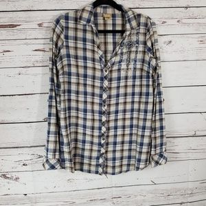 Daytrip Button Down Long Sleeve Top